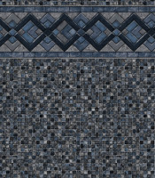 Cobalt Lake - Grey Mosaic liner pattern