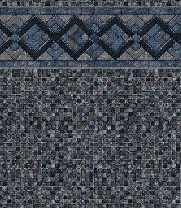 Cobalt Lake - Grey Mosaic liner pattern