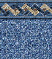 Mountain Top - Blue Mosaic liner pattern