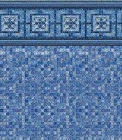 Vintage Mosaic - Blue Mosaic liner pattern
