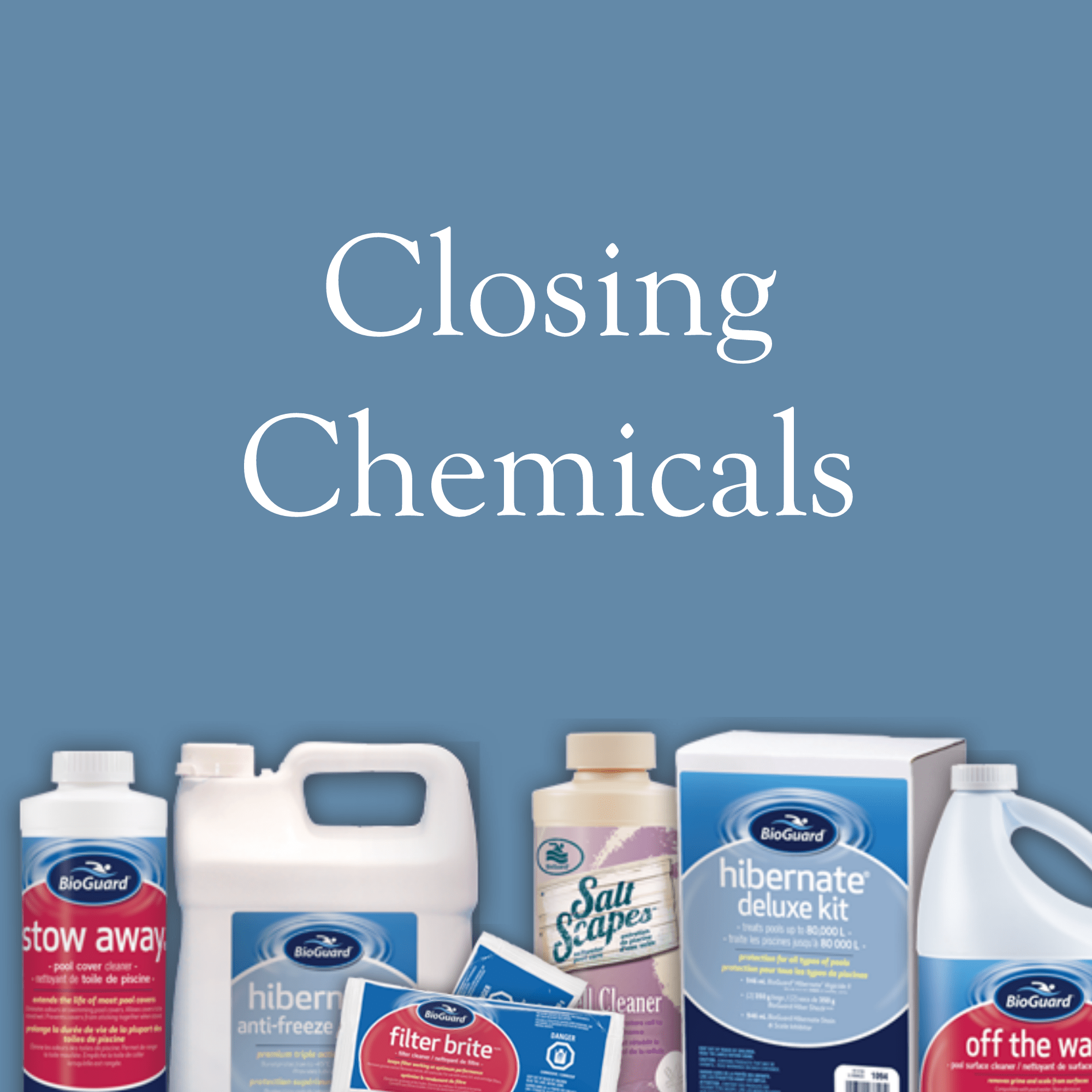 Winter and pool closing items archives r r pools for Chemicals needed to close swimming pool